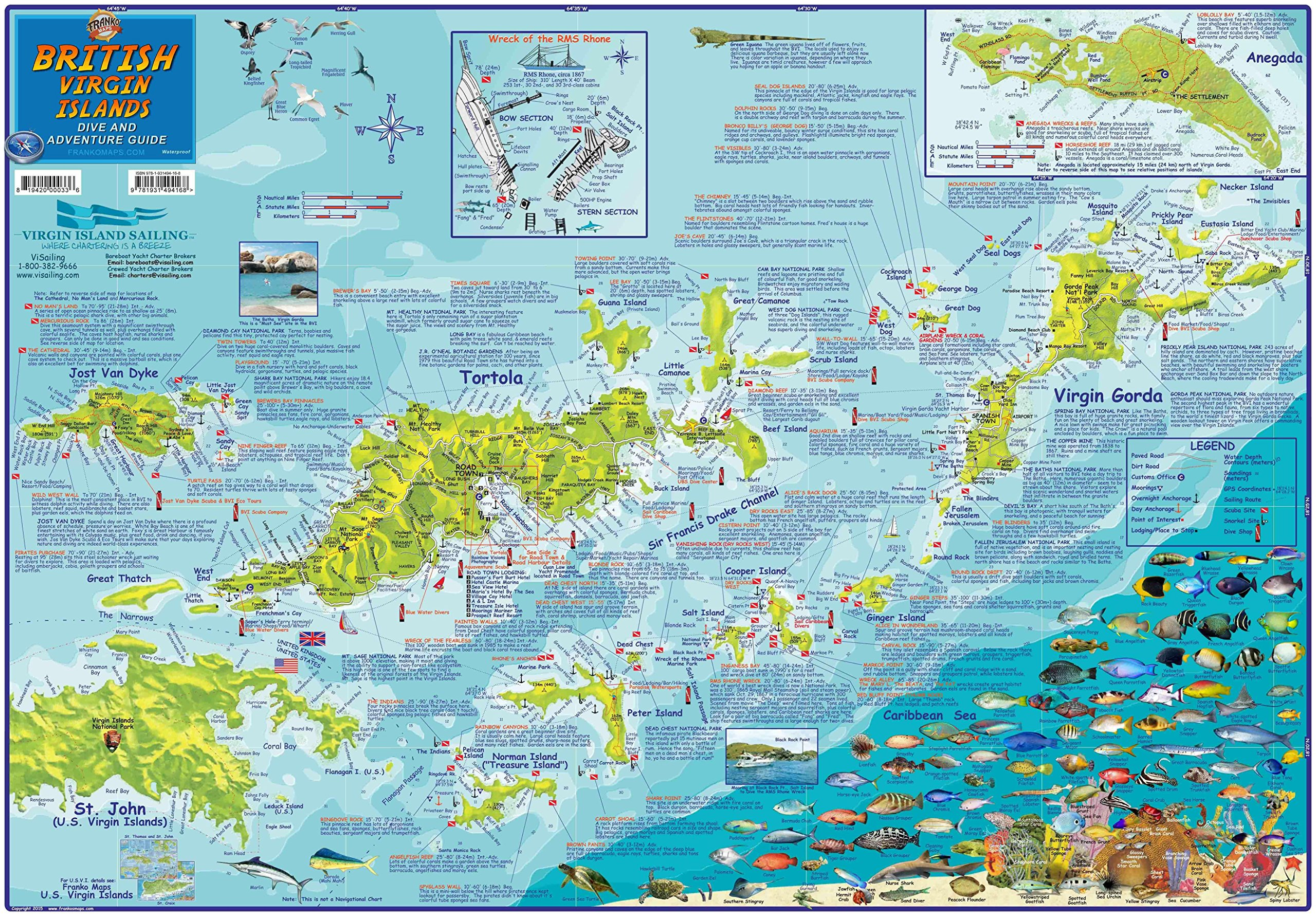 Franko's Dive map BVI